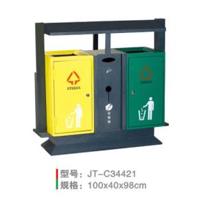 不銹鋼/鋼板噴塑垃圾桶系列 JT-C34421