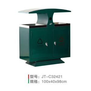 不銹鋼/鋼板噴塑垃圾桶系列 JT-C32421