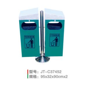 不銹鋼/鋼板噴塑垃圾桶系列 JT-C37452