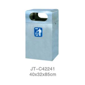 不銹鋼/鋼板噴塑垃圾桶系列 JT-C42241