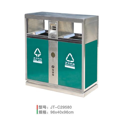 不銹鋼/鋼板噴塑垃圾桶系列 JT-C29580
