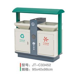 不銹鋼/鋼板噴塑垃圾桶系列 JT-C33452
