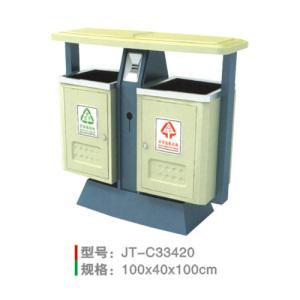 不銹鋼/鋼板噴塑垃圾桶系列 JT-C33420