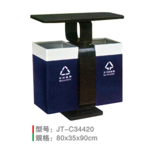 不銹鋼/鋼板噴塑垃圾桶系列 JT-C34420