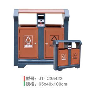 不銹鋼/鋼板噴塑垃圾桶系列 JT-C35422