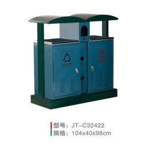 不銹鋼/鋼板噴塑垃圾桶系列 JT-C32422