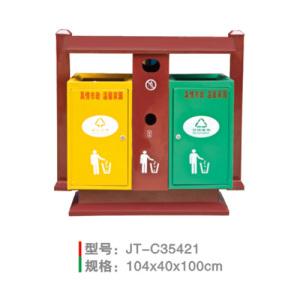 不銹鋼/鋼板噴塑垃圾桶系列 JT-C35421
