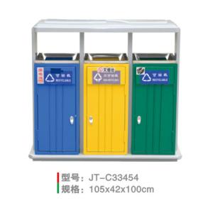 不銹鋼/鋼板噴塑垃圾桶系列 JT-C33454
