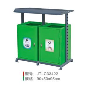 不銹鋼/鋼板噴塑垃圾桶系列 JT-C33422