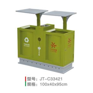 不銹鋼/鋼板噴塑垃圾桶系列 JT-C33421