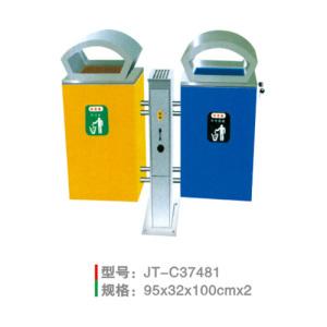 不銹鋼/鋼板噴塑垃圾桶系列 JT-C37481