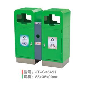 不銹鋼/鋼板噴塑垃圾桶系列 JT-C33451