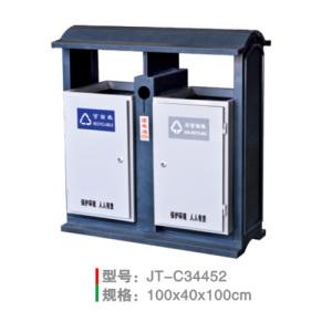 不銹鋼/鋼板噴塑垃圾桶系列 JT-C34452