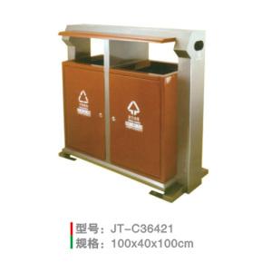 不銹鋼/鋼板噴塑垃圾桶系列 JT-C36421