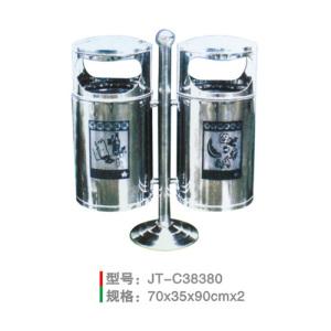不銹鋼/鋼板噴塑垃圾桶系列 JT-C38380