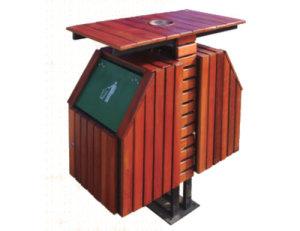 鋼木垃圾桶系列 JT-A06501