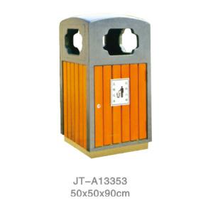 鋼木垃圾桶系列 JT-A13353