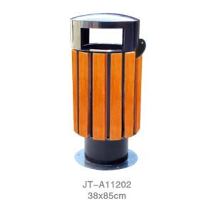 鋼木垃圾桶系列 JT-A11202