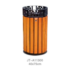 鋼木垃圾桶系列 JT-A11300