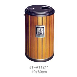 鋼木垃圾桶系列 JT-A11211