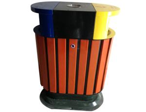 鋼木垃圾桶系列 JT-A7270