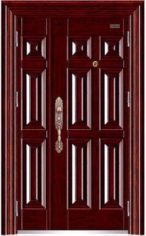 六方块(反凸)明铰链子母门