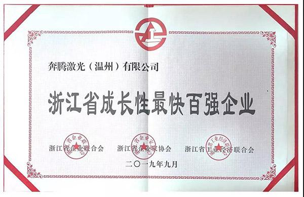 浙江省成长最快百强企业
