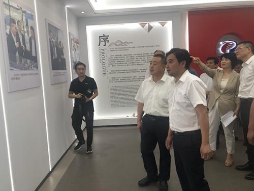 陕西安康市考察团调研杏盛平台