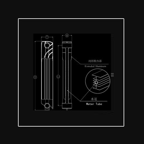 純鋁散熱器 FA-800/1200/1600/1800
