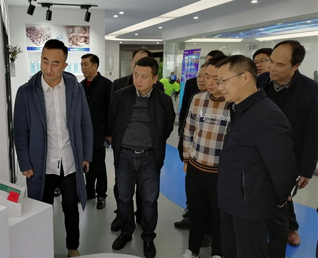 The deputy mayor of Jinhua and his party came to Yongkang to inspect industrial development, care about local work, and visited Feijian Group