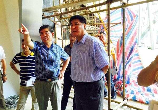 市委常委、常务副市长岳进视察三亚市游客中心项目进展