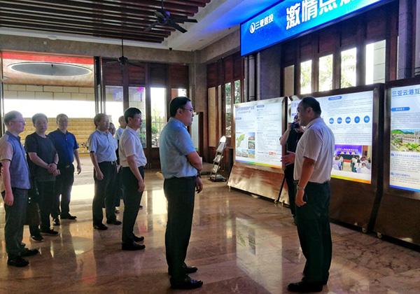 三门峡市政府考察团赴三亚信投云港数据中心考察调研