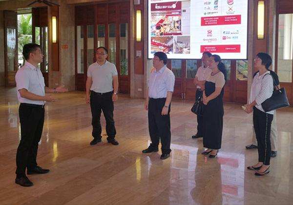 海口市委常委、宣传部长王忠云调研三亚云港互联网创业基地