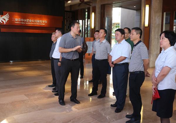 中国电子信息产业集团杨军一行考察云港互联网创业基地