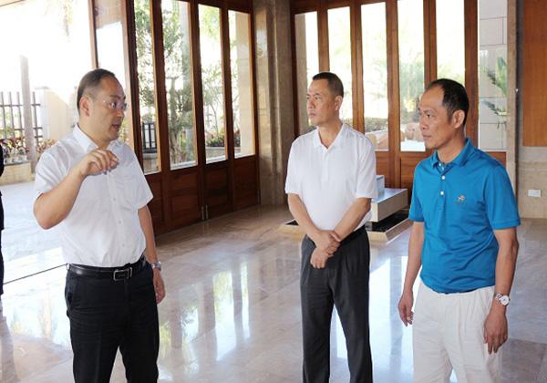 政协副主席黄志强考察云港园区,希望园区以高新科技为动力助推三亚产业结构转型升级
