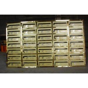 不銹鋼信報箱 鈦金板噴金砂XFY-0507