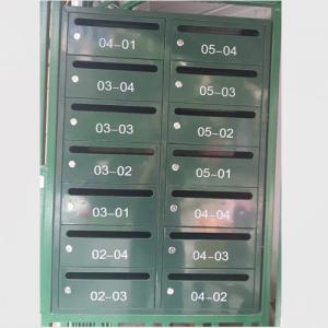 鐵皮噴塑信報箱 鐵皮噴塑郵政綠信報箱XFY-0207