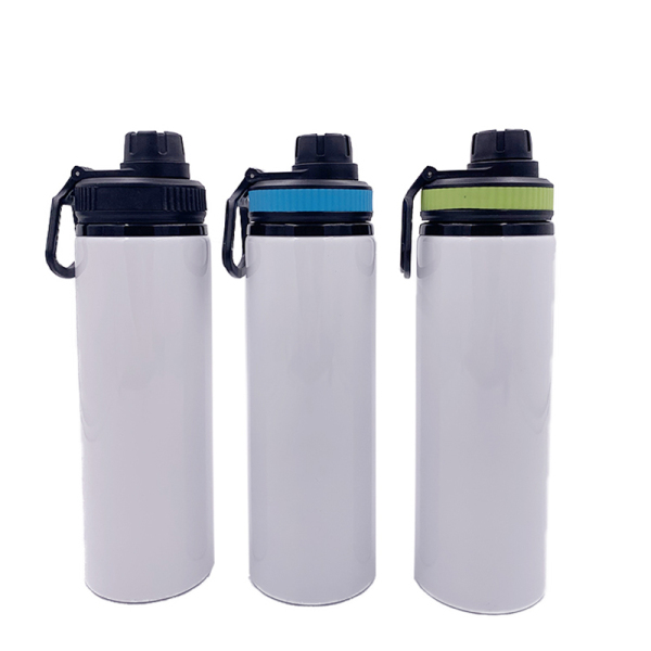 sublimation blank 750ml wide mouth aluminum water bottle with colorful lid WJ-750A-WM2