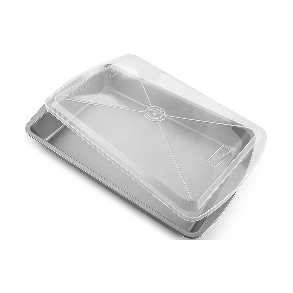 BAKE TRAY WITH PLASTIC COVERYL-J12