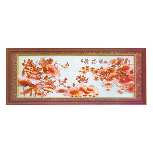 紫銅浮雕系列 荷花圖