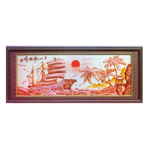 紫銅浮雕系列 一帆風順