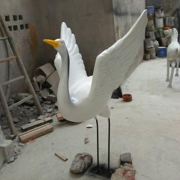 玻璃鋼雕塑 白鶴