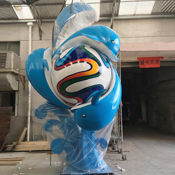 玻璃鋼雕塑 鯨魚戲珠