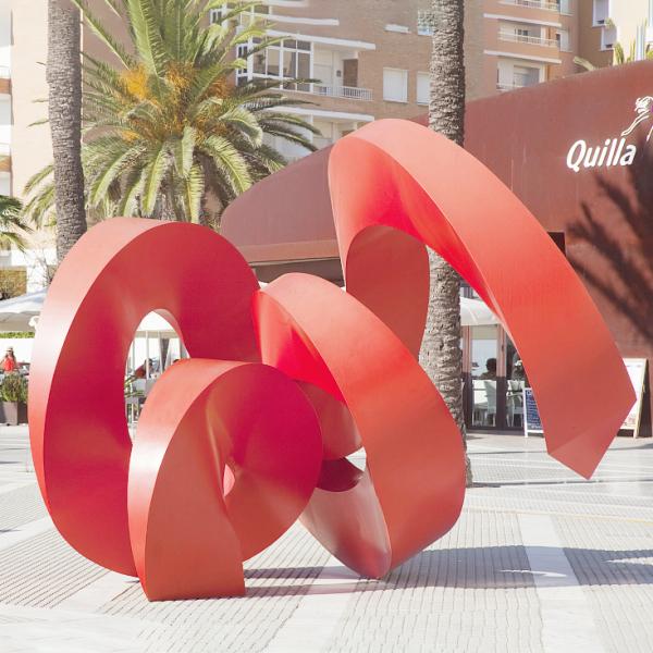 城市雕塑 紅色不銹鋼雕塑
