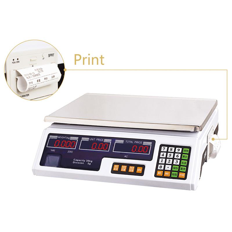 电子计价秤系列YZ-208打印