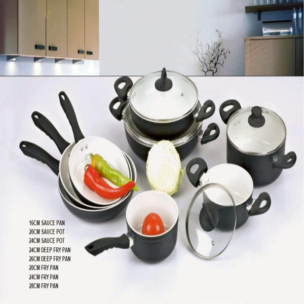 High Quality 12PCS 3.0mm Thickness Aluminum Cookware Set GZY12-22