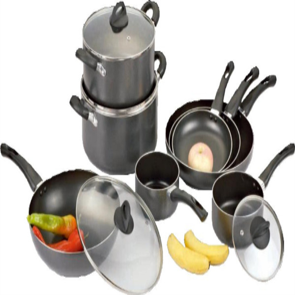 12PCS Heat-Resistant and Corrosion-Resistant Aluminum Cookware Set GZY12-19