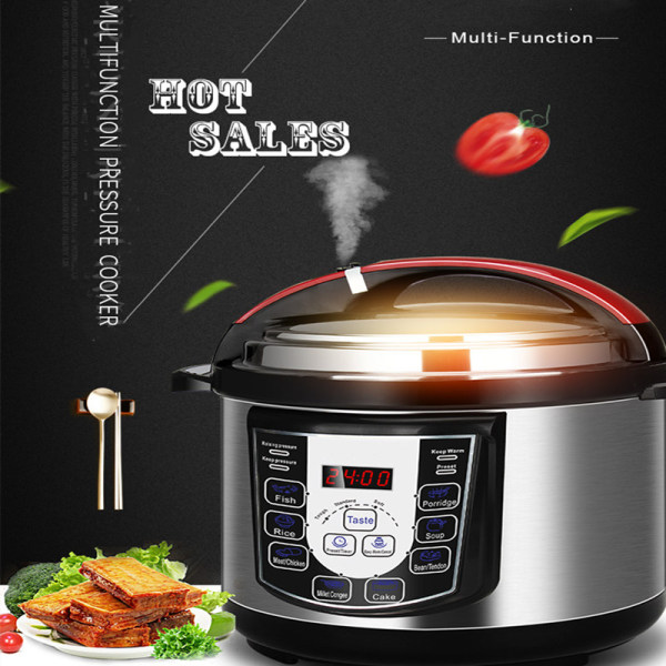 5.0L Safe Electric Pressure Cooker for Home Use GZY-E05
